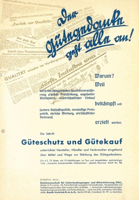 Güteschutz und Gütekauf 1925